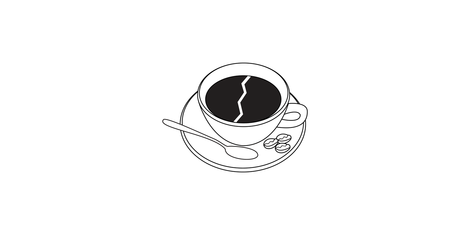 Coffee Break logo design concept.