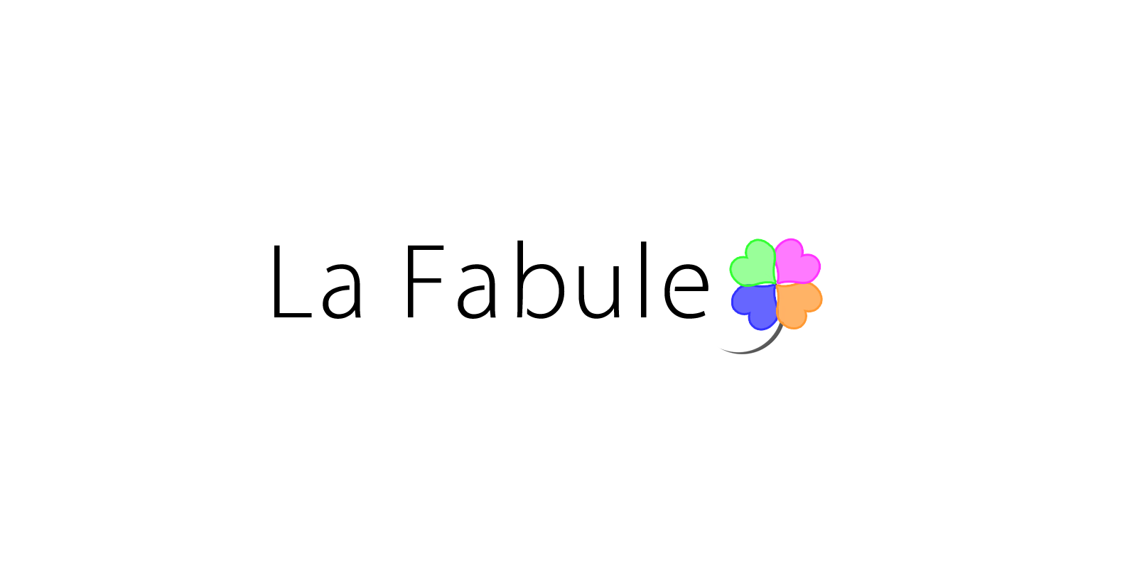 Quatrefoil design for the La Fabule logo.